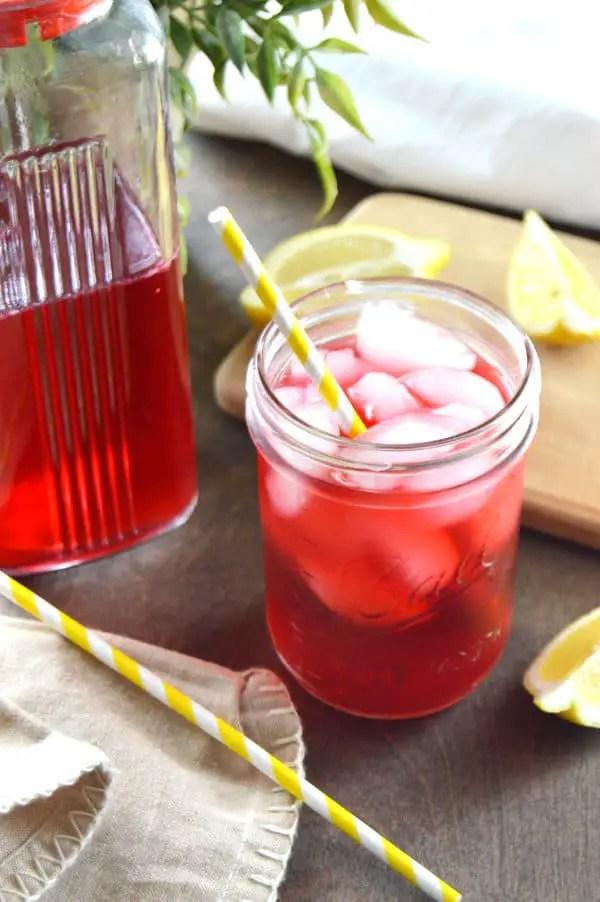 Sugar Free Hibiscus Lemonade