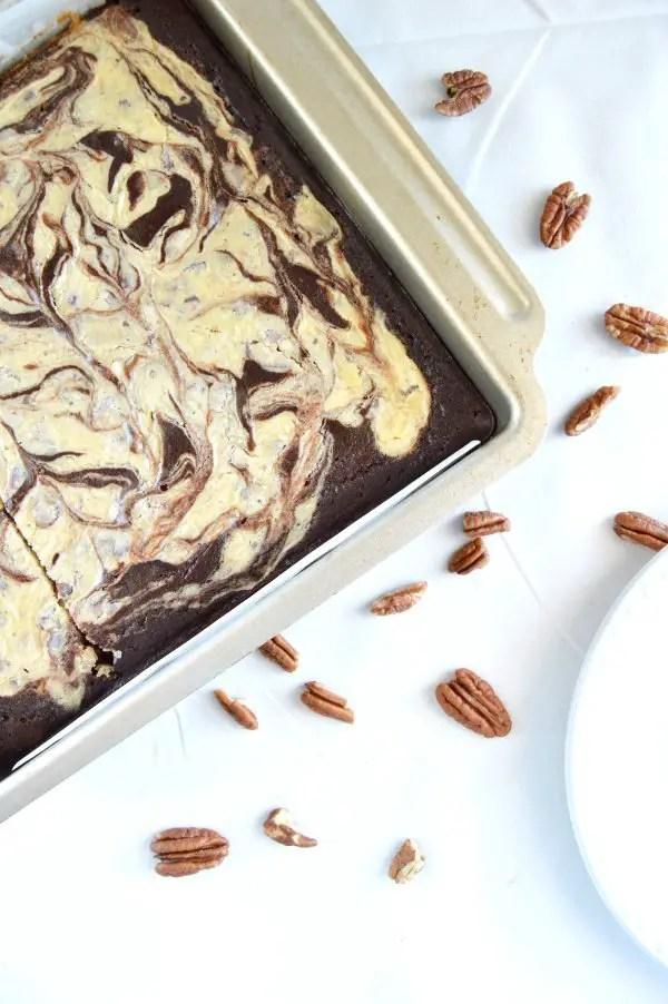 Coconut Pecan Cheesecake Brownie Bars