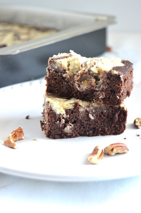 Coconut Pecan Cheesecake Brownies keto