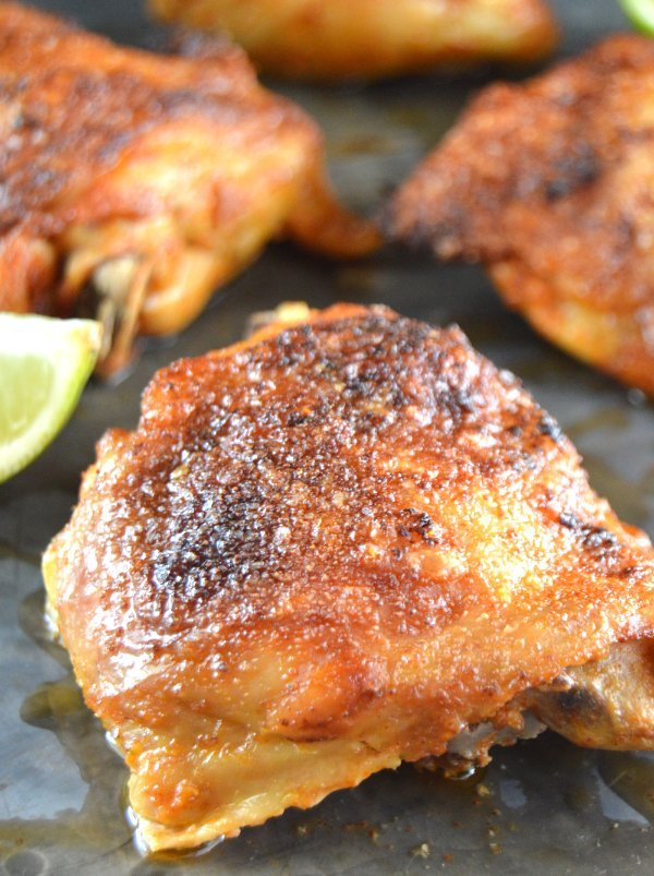 Pico de Gallo Crispy Chicken Thighs