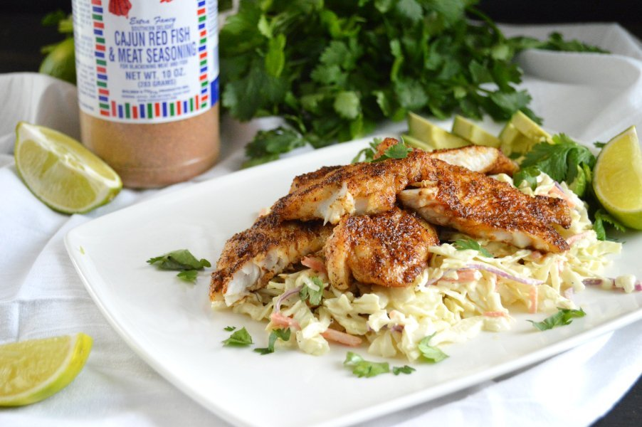 Blackened Redfish Taco Bowls Low Carb, Gluten Free, Keto