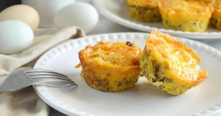 Sausage & Green Chile Egg Muffins – GF, LC, Keto