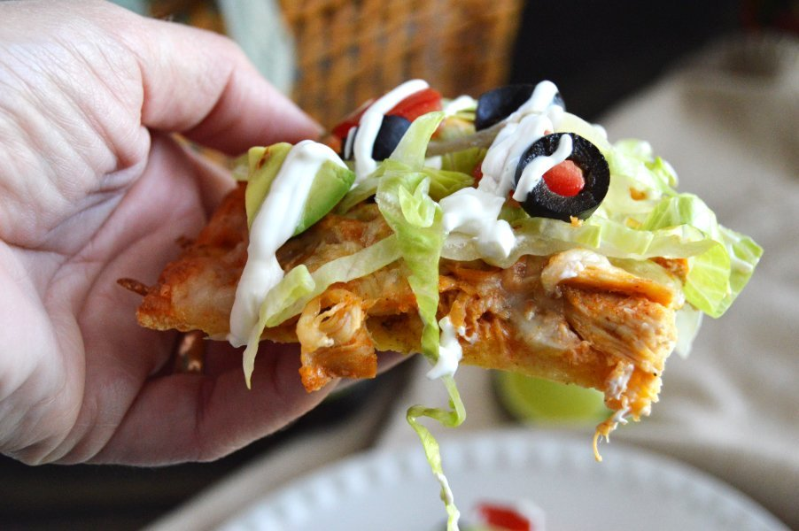 Tex-Mex Chicken Taco Pizza - Low Carb, Keto, Gluten Free