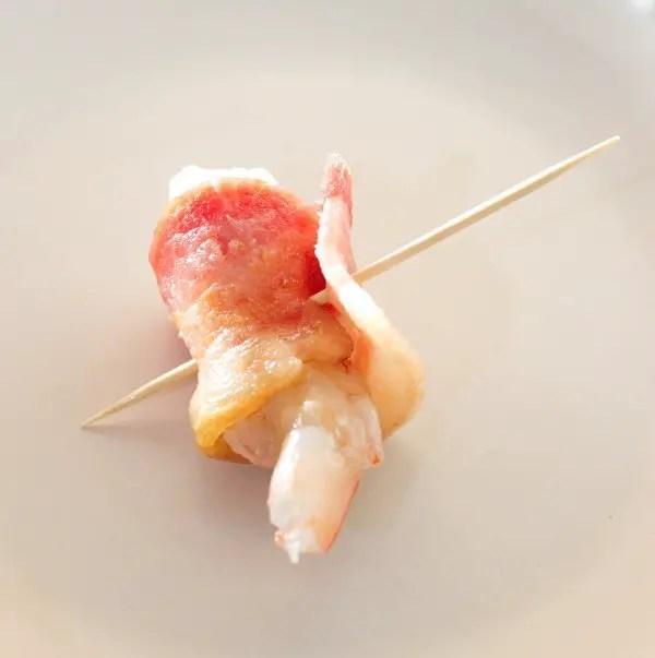 Cajun Smoked Bacon Wrapped Shrimp ready for the smoker