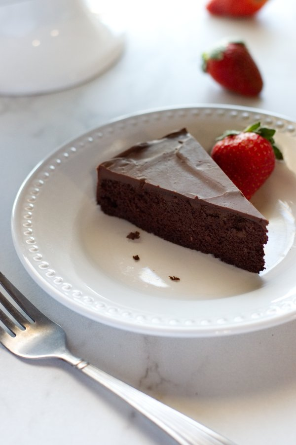 Slice of Keto Choclate Cake