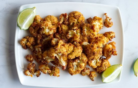 Roasted Cauliflower with Chili and Lime