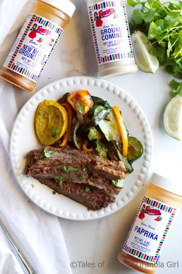 Spices for Chili Lime Steak Fajitas with Squash & Peppers - Low Carb, Keto, Dairy Free