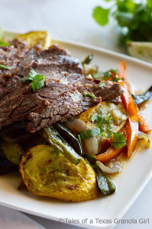 Chili Lime Steak Fajitas with Squash & Peppers - Low Carb, Keto, Dairy Free