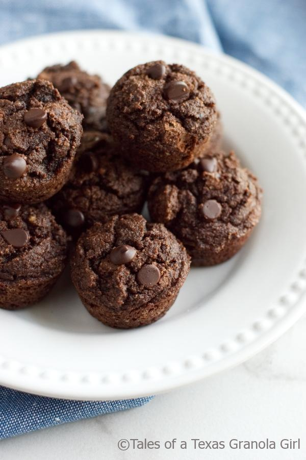 Double Chocolate Coconut Flour Muffins are a low carb and keto friendly!