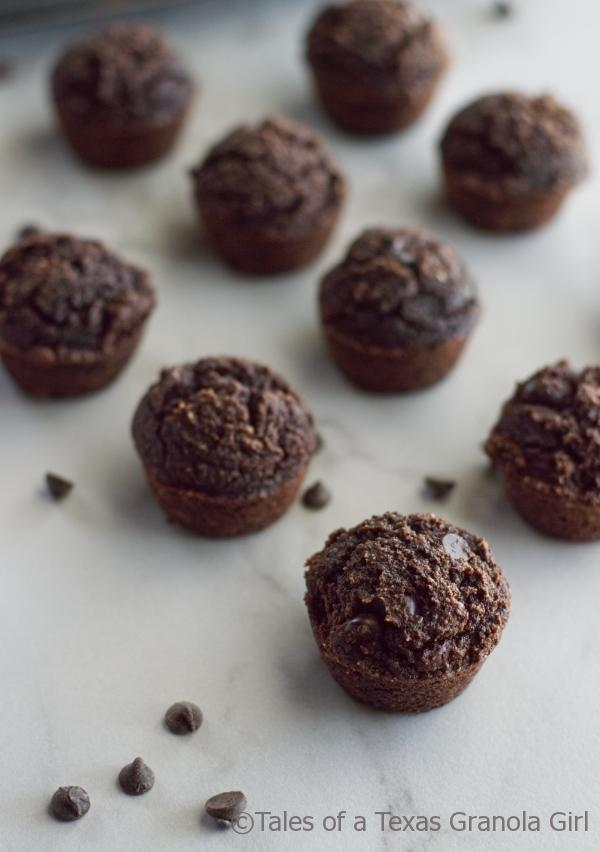 Double Chocolate Coconut Flour Muffins  - Low carb, keto, dairy free
