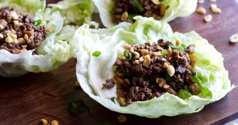 Ground Venison Lettuce Wraps