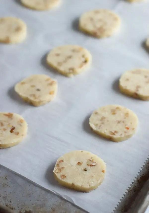 Cracker dough on cookie sheet
