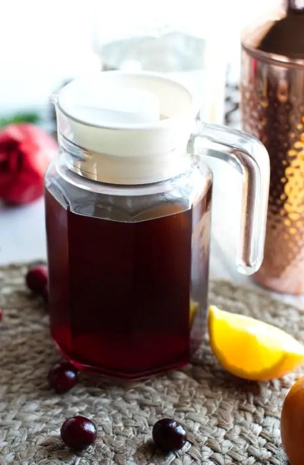 Pitcher of Hibiscus tea