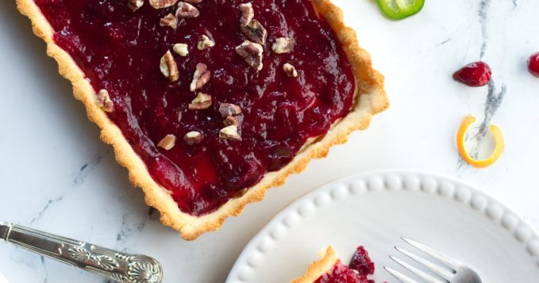 Keto Cranberry Brie Tart with Jalapenos