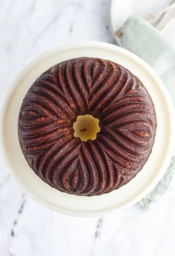 Whole chocolate bundt cake