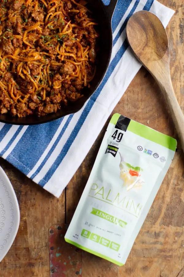 Package of keto friendly pasta alternative for keto fideo recipe