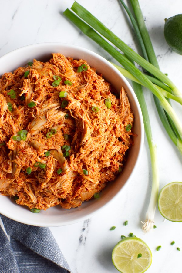 Keto Mexican Shredded Chicken in a bowl