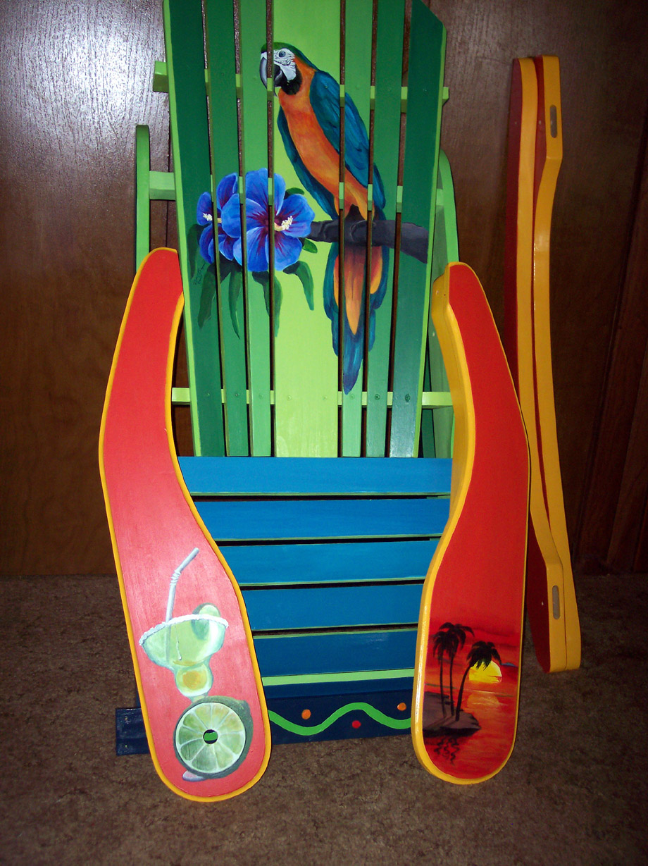how to paint adirondack chair