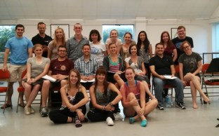 Midsummer Night Cast with Director/Choreographer Janet Roston (back row middle) and Music Director Ryan O'Connell (back row right)