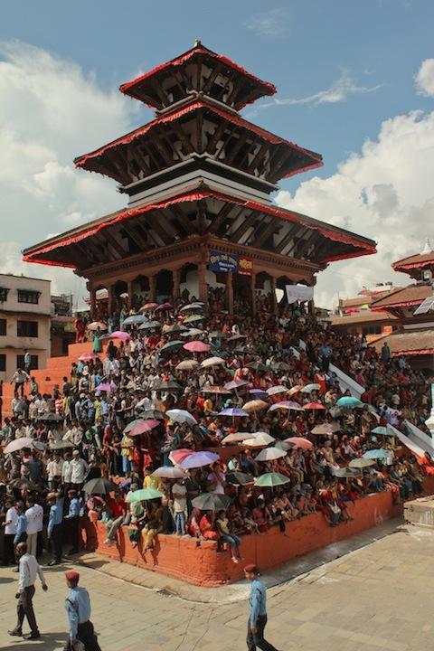 Spectators waiting for the parade - Indra Jatra 2078