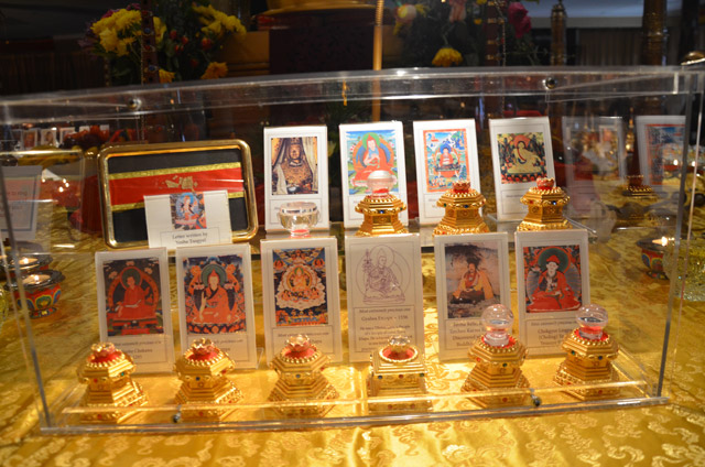 The relics of other 42 great spiritual masters were on display.  Here are few of them.
