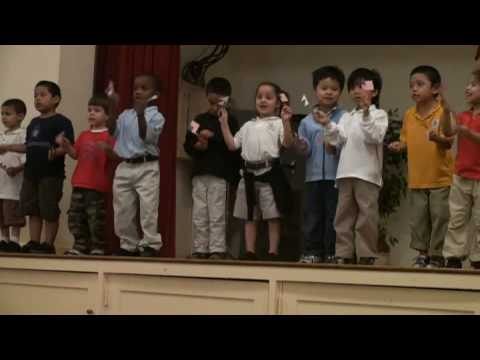 American Children singing Nepali National Anthem