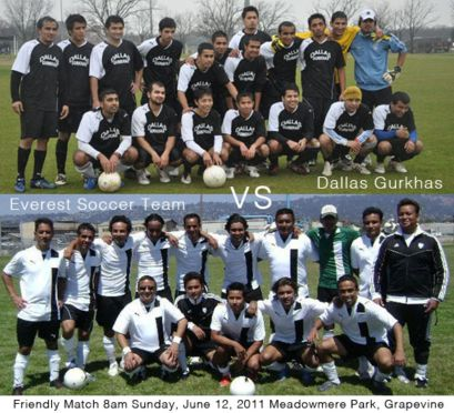 Photos & Video Highlights from Dallas Gurkhas vs Everest Soccer Team Friendly Match