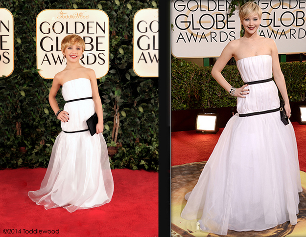 Mini Jennifer Lawrence vs. actual size Jennifer Lawrence