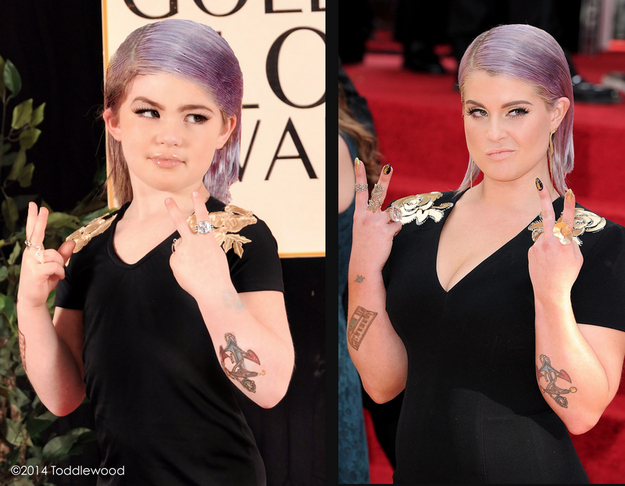 Mini Kelly Osbourne vs. actual size Kelly Osbourne