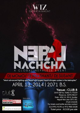 WIZ Entertainment Presents Nepal Nachcha 3 Dallas on April 13, 2014