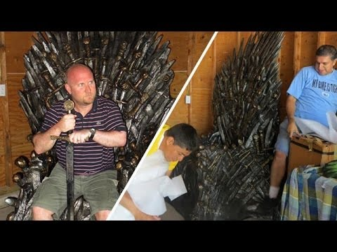 'Game Of Thrones' Fan Won His Very Own Iron Throne!