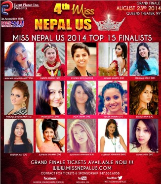 Miss Nepal US Top 15 Finalists Announced