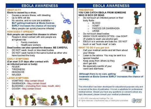 Ebola Awareness Infograph