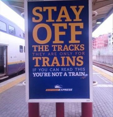 You are most probably not a train!