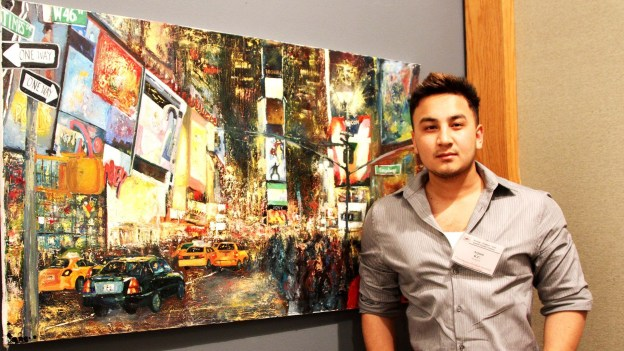 Arjoon KC receives Outstanding Art Student Award from DCCCD