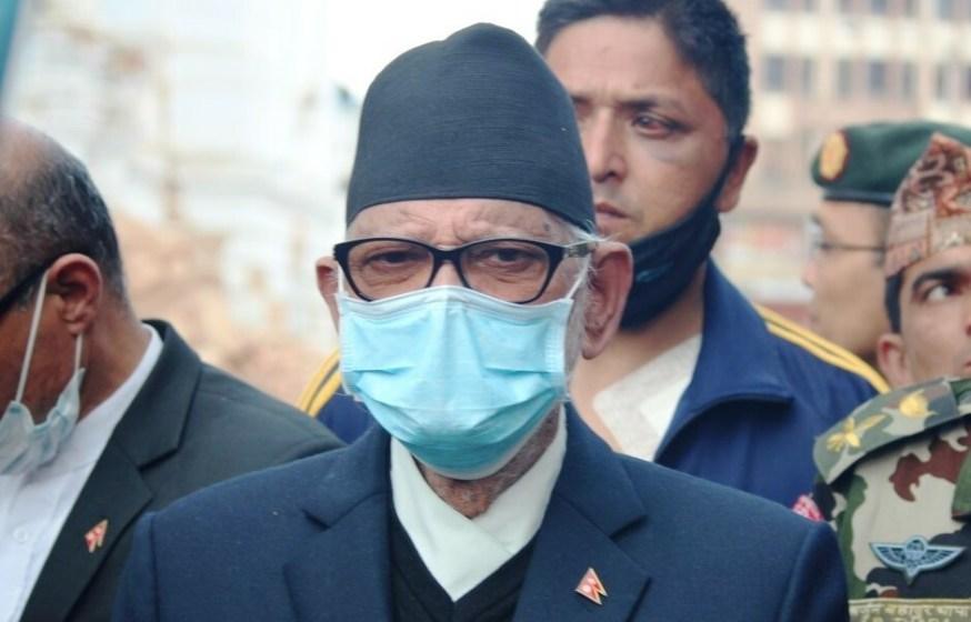 PrimeMinister Shushil Koirala participates in debris removal campaign