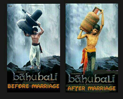 Bahubali-Before and after Marraige