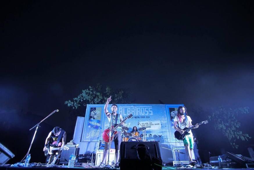 Albatross performing their Birtamod leg during their Ma Ra Malai Tour. /Source: Albatross Facebook Page