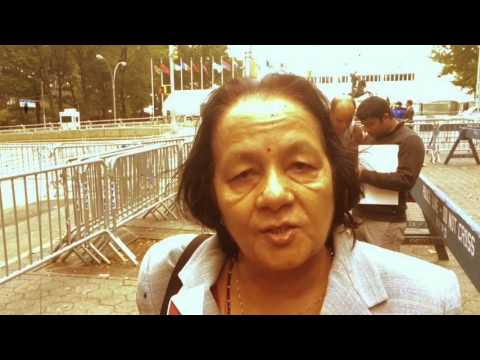 Nepalese Protested Outside UN Office In New York