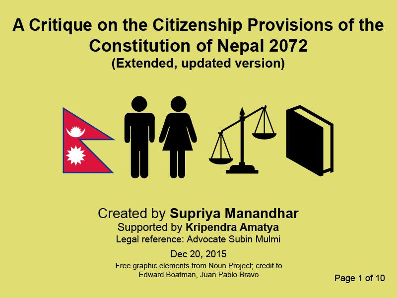 A Critique on the Citizenship Provision of the Constitution of Nepal 2072_1