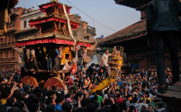 Man Run Down By Chariot During Bisket Jatra