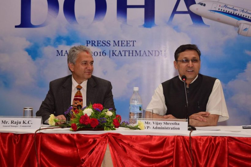 Himalaya Airlines Starting Flight from Kathmandu to Doha from May 31, 2016.