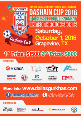 Dallas Gurkhas FC In Final Groundwork For 5th Annual Dashain Cup-2016