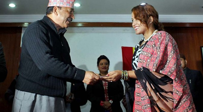Actress Rekha Thapa Officially Joins Rastriya Prajatantra Party