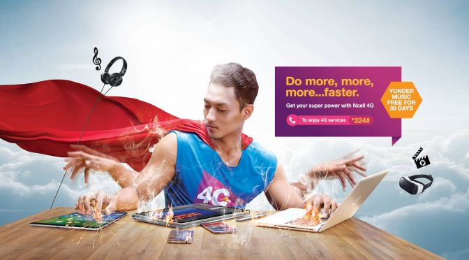 It's not just 4G. It's NCELL 4G