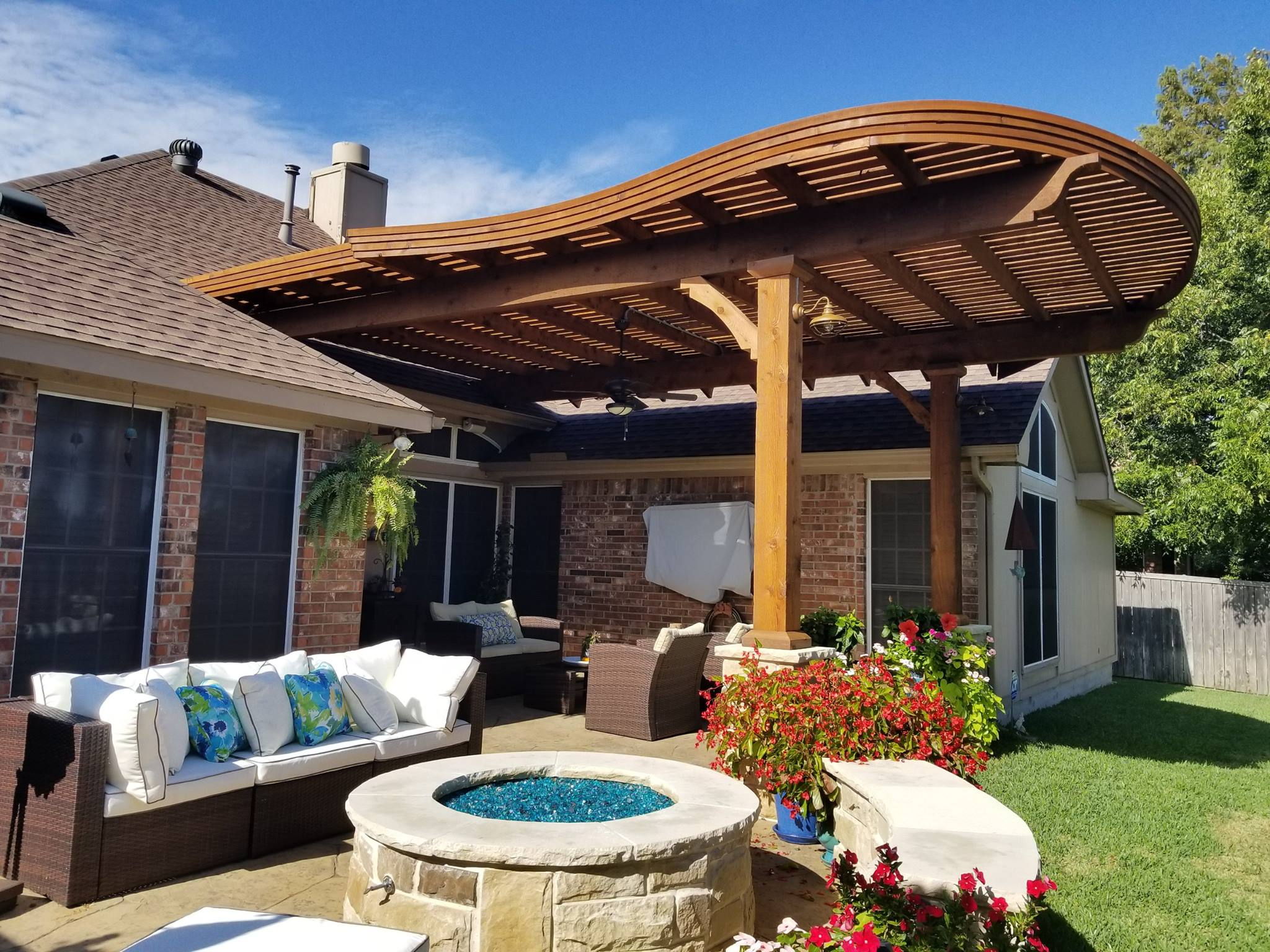 Sachse, Texas Patio Covers, Arbors & Outdoor Kitchens ... on Backyard Patio Cover Ideas  id=86054