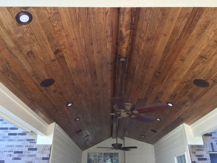 Staining Tongue And Groove Porch Ceiling Www Energywarden Net