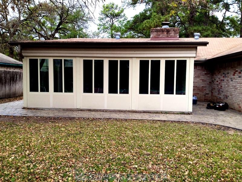 Patio Enclosures Houston Texas 281-865-5920 on Closed Patio Design id=29262