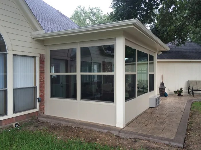 Stamped Concrete And Sun Room in Houston TX on Patio Enclosures  id=29706