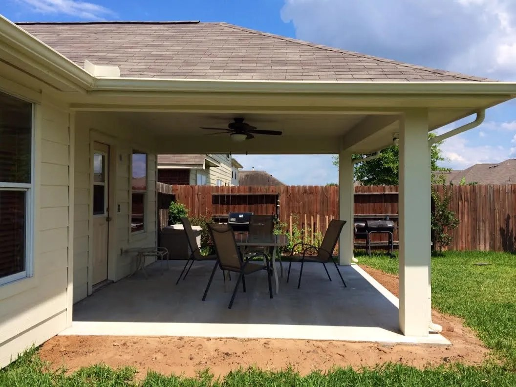 Imbrogno hip-roof patio cover Houston Texas on Roof For Patio Ideas id=94773